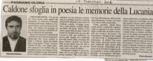 articolo del giornale LA PREALPINA 2004